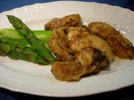 牡蛎のバター炒め(カレー風味)